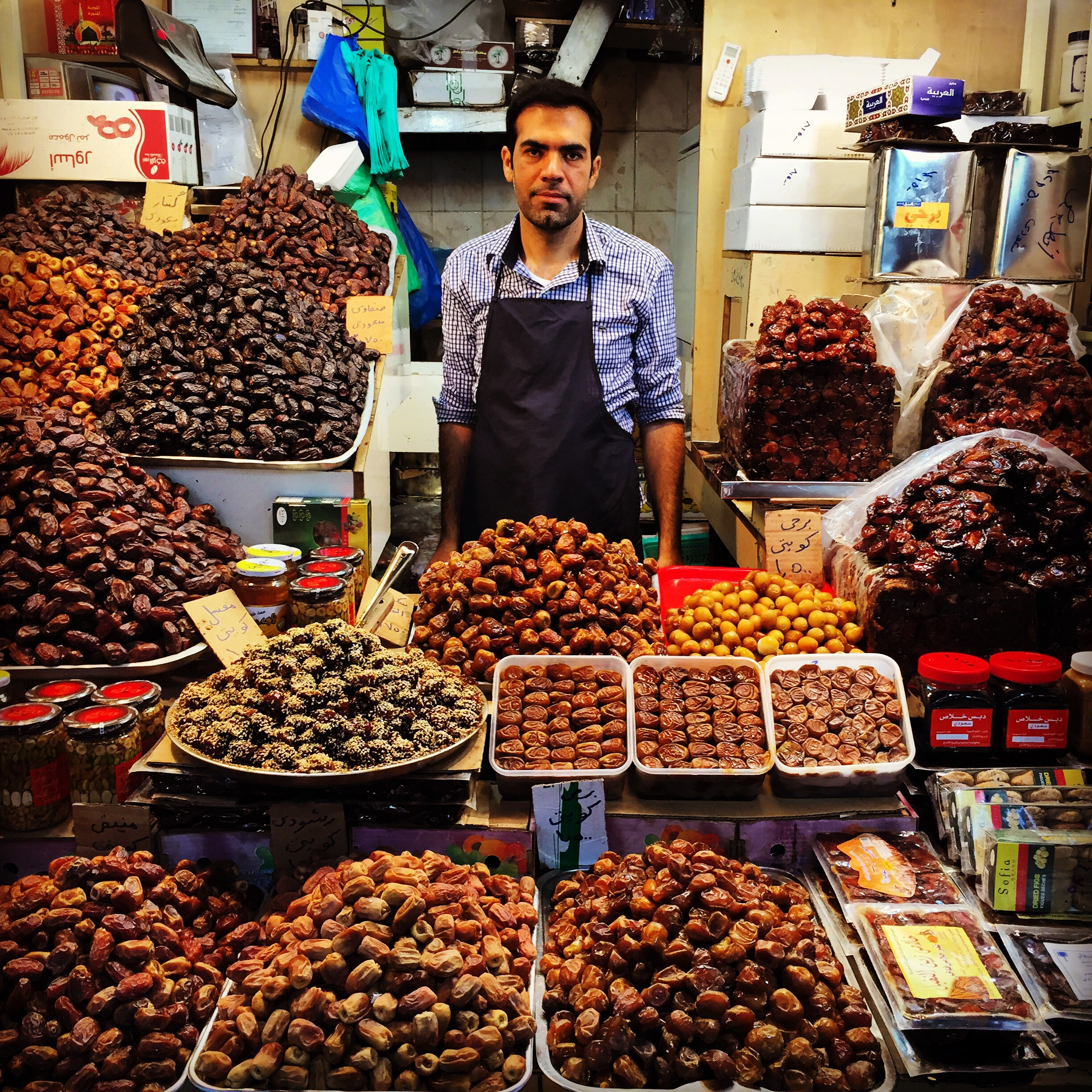 Date vendor in Kuwait market