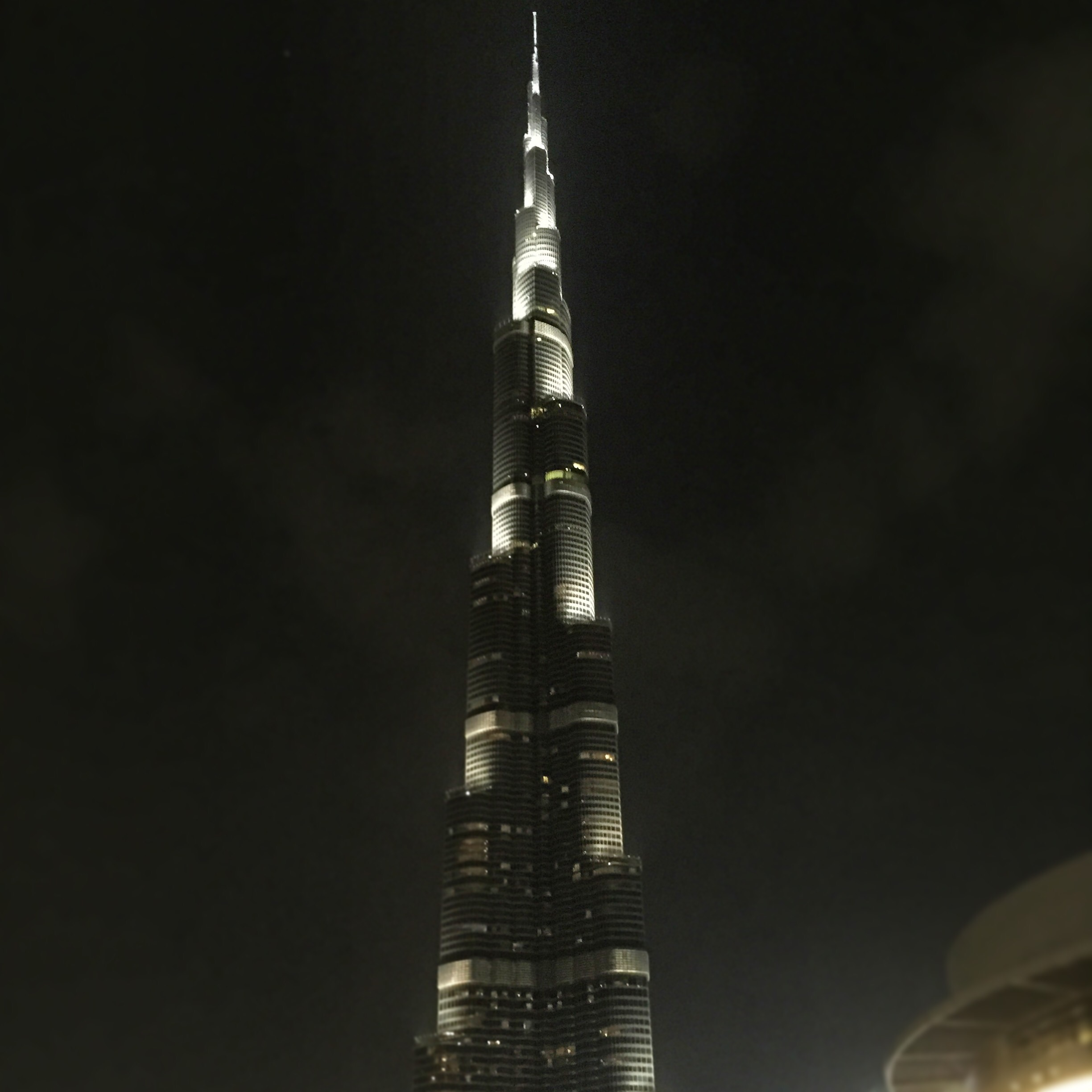 Burj Khalifa at night tallest building in the world
