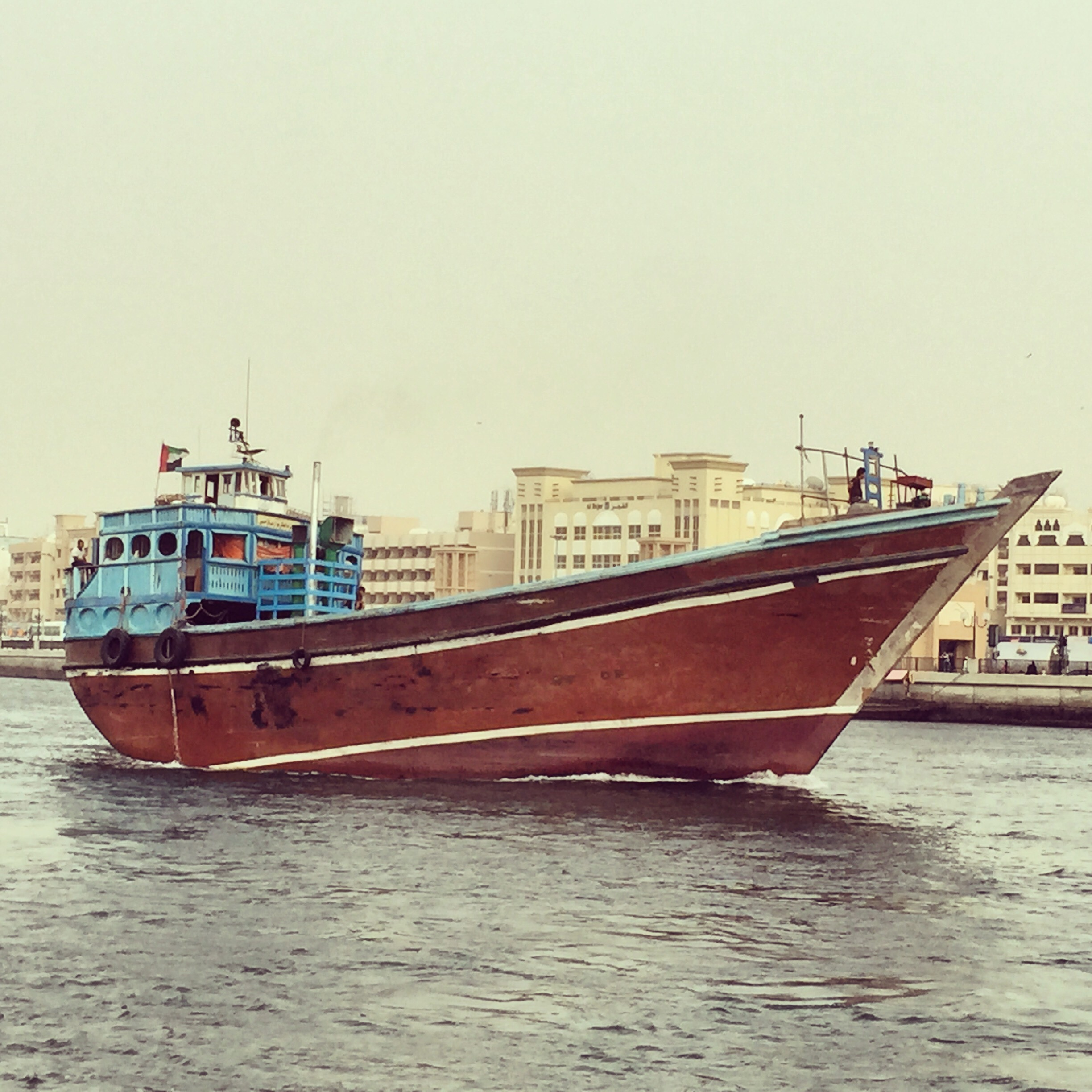 Traditional Dubai ship
