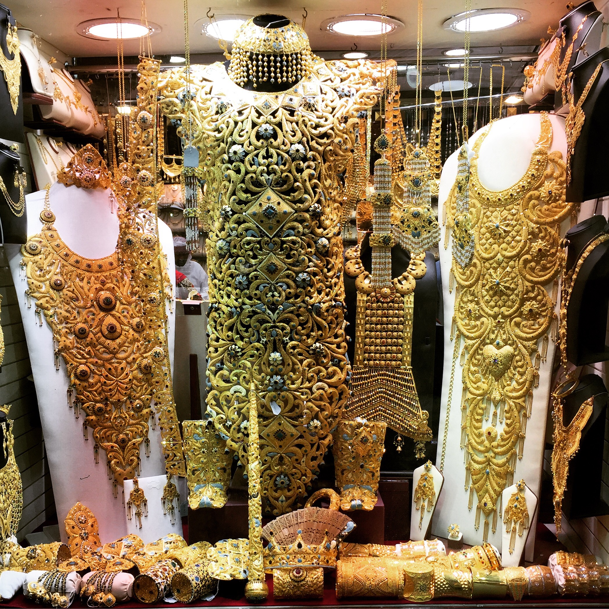 Gold vests at Dubai gold souk