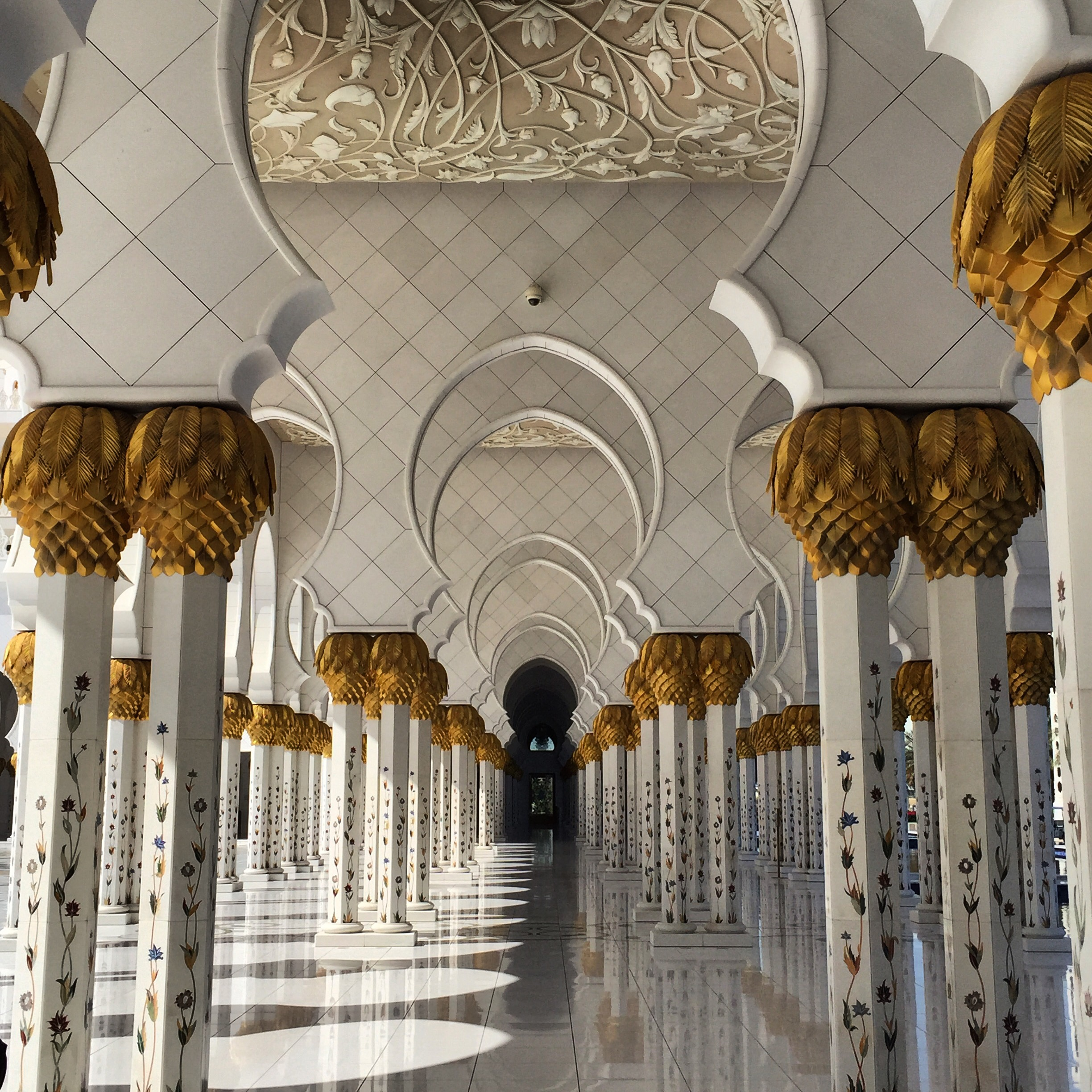 Sheikh Zayed Grand Mosque (Arabic: جامع الشيخ زايد الكبير‎) in Abu Dhabi