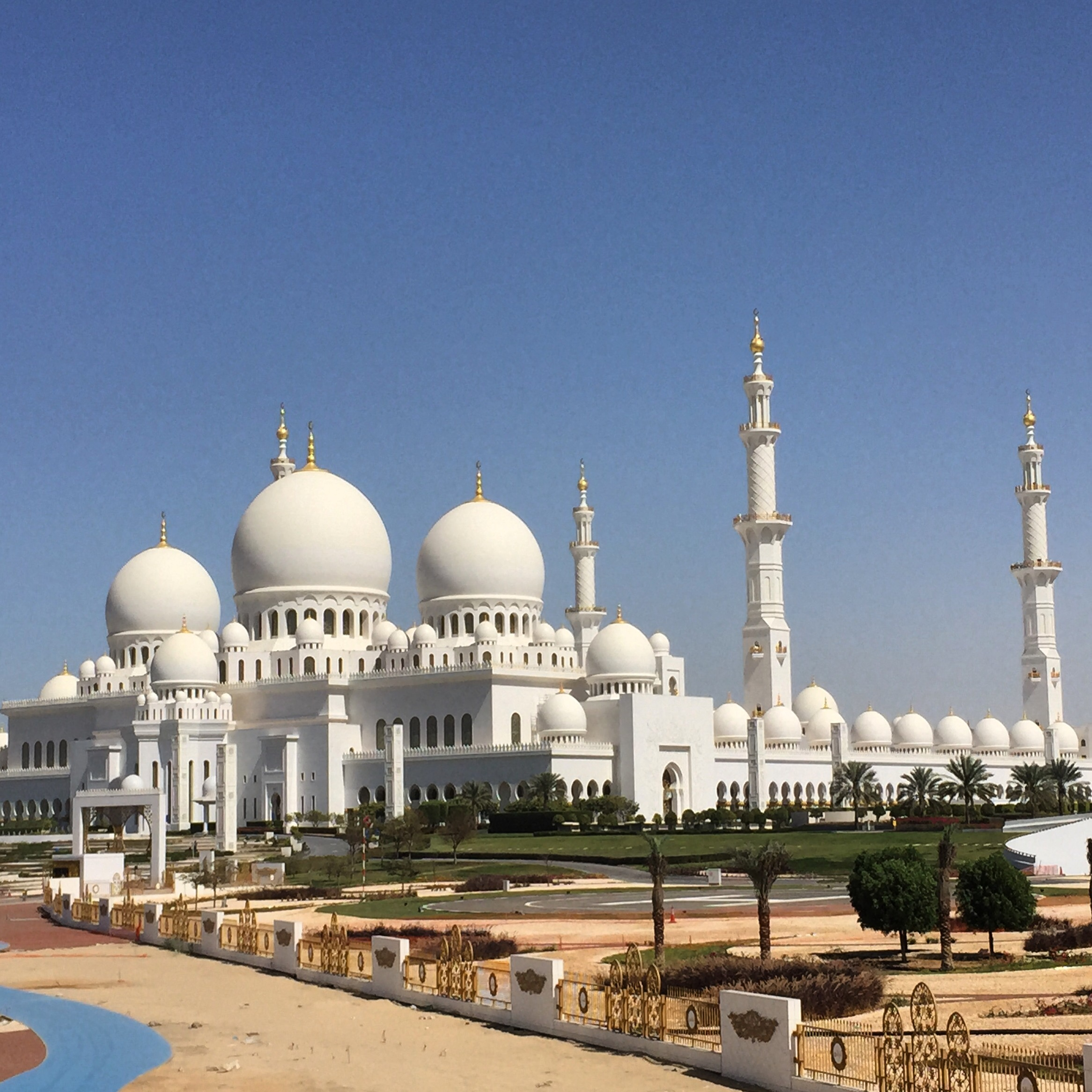 Sheikh Zayed Grand Mosque (Arabic: جامع الشيخ زايد الكبير‎) is located in Abu Dhabi