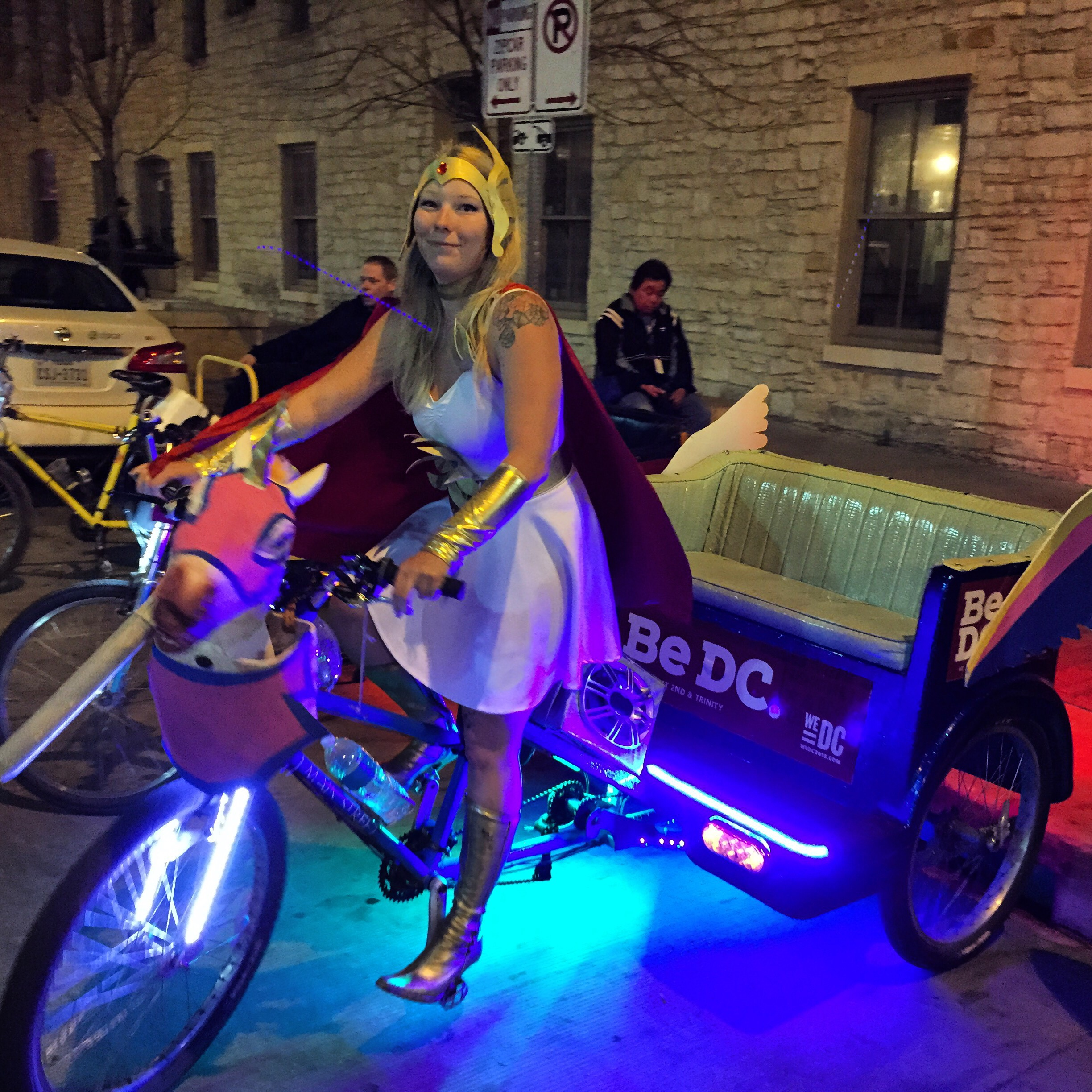 Fantasy taxi bike at SXSW