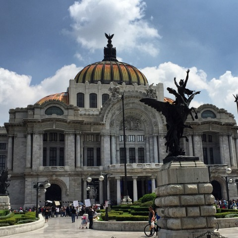 downtown Mexico City Palacio de Bellas Artes