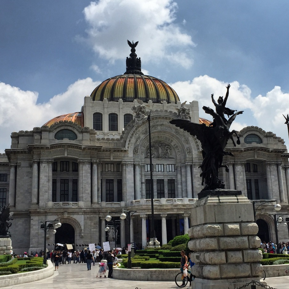 Palacio de Bellas Artes in downtown Mexico City