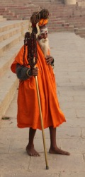Indian sadhu in Varanasi, India