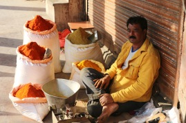 spice seller in Jaipur, India