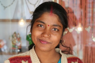 Indian woman in Rishikesh, India