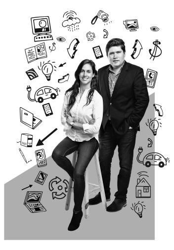 Emprendedores Jimena Pardo y Diego Solorzano de Carrot Mexico