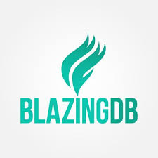 BlazingDB logo, an extremely fast SQL database able to handle petabyte scale