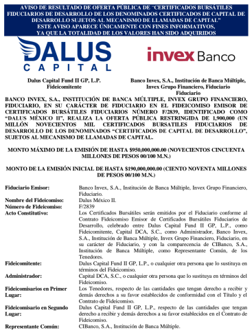 Dalus Capital CKD Bolsa Mexicana de Valores