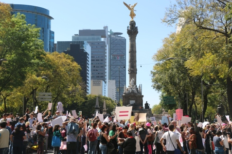 Anti-Trump protests in Mexico City